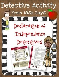 Declaration of Independence Detectives Activity.