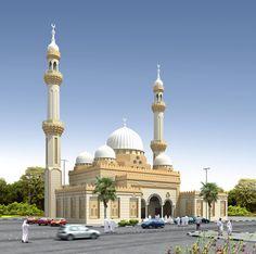 Beautiful mosque in UAE Quran Wallpaper, Islamic Wallpaper, Mosque Architecture, Art And Architecture, Islamic World, Islamic Art, Temples, Medina Mosque, Bagdad