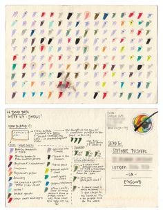 Dear-Data (www.dear-data.com) Week 47- A week of smells, Postcard by Giorgia