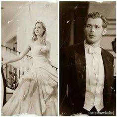 Candice Accola & Joseph Morgan as Klaus and Caroline