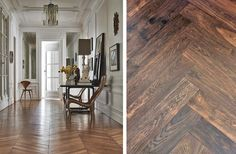 Recreate the look of this beautiful Parisian apartment by fitting Junckers Whalebone Staves pre-finished parquet floor in solid Black Oak https://www.junckers.com/gb/whale-bone-flooring/black-oak/mc-82/c-80/p-181 #junckers #junckersfloor #woodfloor #woodflooring #woodenfloor #solidwoodfloor #floor #flooring #getthelook #interior