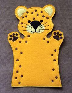 Cheetah - Safari Animal Felt Puppet - Adult, Kid, AND Finger Puppet Sizes