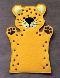 Cheetah - Safari Animal Felt Puppet - Adult, Kid, AND Finger Puppet Sizes