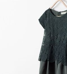 Robe avec jupe combinée - Robes - Filles (3 - 14ans) - ENFANTS | ZARA France