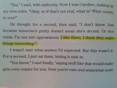 Wes's quote from The Truth About Forever by Sarah Dessen.