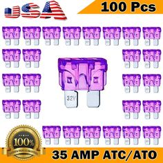 Deepa 50 Pack 35 AMP APM//ATM 32V Mini Blade Style Fuses 35A Short Circuit Protection Car Fuse