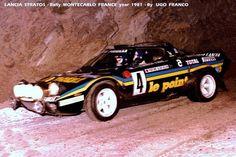 1981 MONTE CARLO RALLY - Lancia Stratos HF. Drivers: Bernard Darniche / Alain Mahe. Place: 6th o/a.
