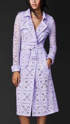 Lavender English Lace Trench Coat - Burberry