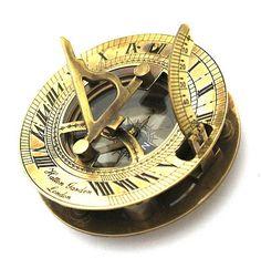 Antique Sundial Compass via ANTIQUEDECORS on Etsy