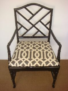 Faux bamboo chair - Hollywood Regency style