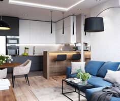 Importance Of Open Concept Kitchen Living Room Small House Interior Design 51 - sitihome Small Apartment Interior, Small House Interior Design, Small Apartment Design, Small Room Design, Interior Design Kitchen, Apartment Kitchen, Room Interior, Apartment Ideas, Kitchen Room Design