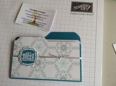 Gift holder with the envelope punchboard by Stampin' Up!