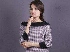 Langarmblusen - NARA Shirt mit Hahnentritt Muster - ein Designerstück von Berlinerfashion bei DaWanda