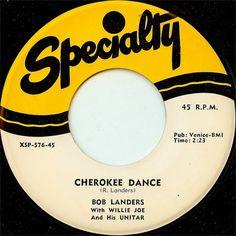 "Willie Joe And His Unitar / Bob Landers - Unitar Rock / Cherokee Dance: buy 7"", RE at Discogs"