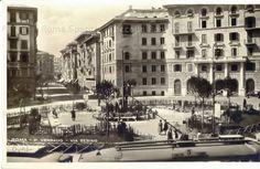 Piazza Verbano lato Via Sebino. Trieste, Old Photos, Evergreen, Rome, Street View, San, Antique, History, Travel