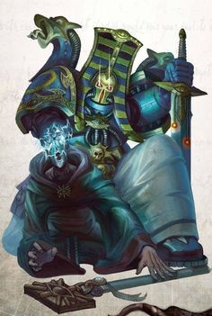Today we'll think about how to play for the most special Traitor Legion – Thousand Sons. Warhammer 40k Rpg, Warhammer 40k Miniatures, Warhammer Fantasy, Fantasy Fiction, Sci Fi Fantasy, Space Marine Librarian, Chaos Daemons, Thousand Sons, Sci Fi Characters