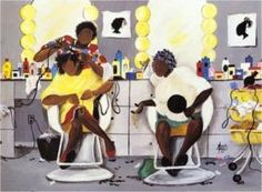 Black Beauty Salon Art & African American Hair Salon Posters