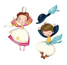 illustrati on©emmanuelle colin Illustration Mignonne, Boy Illustration, Drawing For Kids, Art For Kids, Art Fantaisiste, Beatrix Potter, Anime Art Girl, Whimsical Art, Drawing People