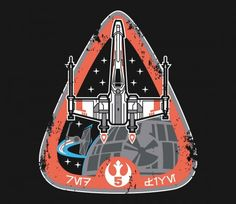 Red Five was the callsign of the fifth member of Red Squadron, this is it's mission badge! @teefury