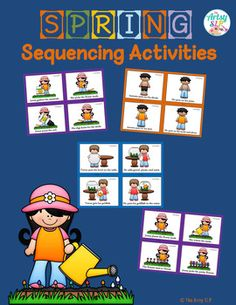 Encourage written expression, inferencing, and encourage more utterances with this spring sequencing set.