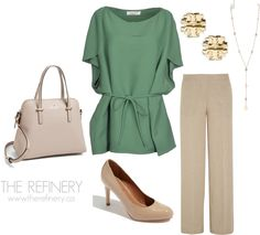 Work outfit designed with soft colours. Office Outfits, New Outfits, Office Wear, Soft Colors, Colours, Beige Outfit, Leather Apron, Beige Shoes, Business Casual Attire