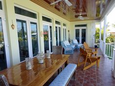 www.38fortunevillage.com beautiful canal front house for sale in The Bahamas, view of the back porch 2