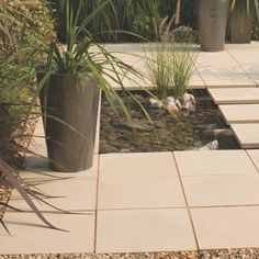 Arnhem Morning haze Paving slab Pack of 70 - B&Q for all your home and garden supplies and advice on all the latest DIY trends Paving Slabs, Paving Stones, Patio Design, Garden Design, Coastal Gardens, Water Features In The Garden, Garden Projects, Garden Ideas, Diy Projects
