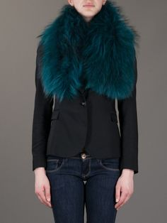 Charlotte simone Fur Cuff in Green