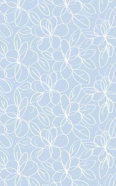 The Rug Market Kids Daisy Drawings Blue 11589 Blue and White area rug