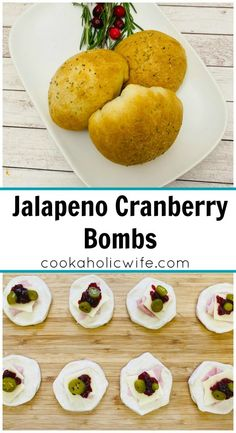 Jalapeno Cranberry Bombs | a quick and delicious appetizer that's spicy, tart and sweet. Jalapeno Cranberry Bombs are filled with ham, cheese, cranberry sauce and pickled jalapenos | www.cookaholicwife.com
