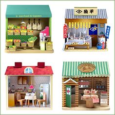 free printables.... really cute little paper houses and shops! It's a Japanese site (so it's all in japanese). relatively easy to navigate, although I haven't tried to print anything and assemble using japanese instructions, so we'll see! REGARDLESS, THESE ARE ADORABLE!!