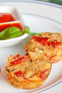 Κινόα ως βασικό υλικό σε ατομικά πιτσάκια Quinoa Pizza Bites, Diabetic Friendly, Sugar Free, Cauliflower, Low Carb, Gluten Free, Sweets, Vegan, Vegetables