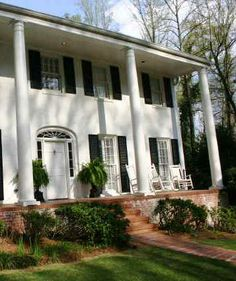 Colonial House with pillars