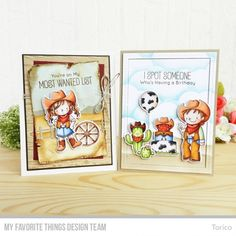 Handmade cards from Torico featuring Birdie Brown Saddle up & Celebrate stamp set and Die-namics #mftstamps
