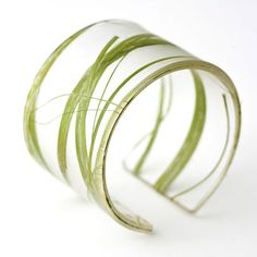 Recycled Resin Bracelet - Green Seaweed