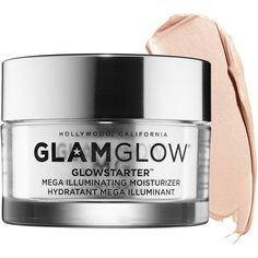 GLAMGLOW GLOWSTARTER Mega Illuminating Moisturizer ($49) ❤ liked on Polyvore featuring beauty products, skincare, face care, face moisturizers, beauty, makeup, filler, face moisturizer and paraben free face moisturizer