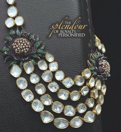 Glamorize your attire and look your best with this diamond polki necklace. Click on the picture for more