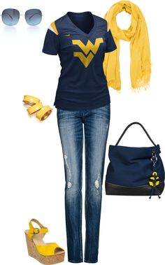 """""""Mountaineers"""" by lynetteguida on Polyvore... the wv needs turned around haha but cute"""