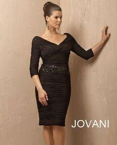 Jovani 171118 Black Embellished Short Evening Dress Formal New 10 - [Sale Price: $450.00]