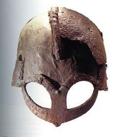 Viking helmet from Gjermunbu, Ringerike, Norway. C Peter Harholdt for… Viking Helmet, Viking Warrior, Ancient Vikings, Norse Vikings, European History, Ancient History, Oslo, Norwegian Vikings, Norway Viking