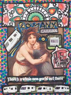 Damian Le Bas, Romany Caravan, 2009 Caravans, Romans, Campers, Collages, It Works, Paintings, Baseball Cards, Artist, Camper Trailers