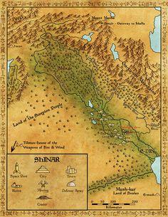 Shinar by Sapiento on DeviantArt High Fantasy, Dark Fantasy Art, Fantasy Artwork, Fantasy Map Making, Fantasy World Map, Dnd World Map, Imaginary Maps, Rpg Map, Map Icons