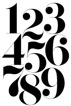typeface | numbers | black & white