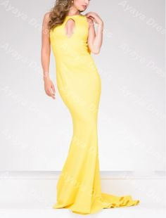 >> Click to Buy << wejanedress Charming Sleeveless Mermaid Backless Yellow Long African Formal Dresses Evening Gown robes de soiree 2017 longue #Affiliate