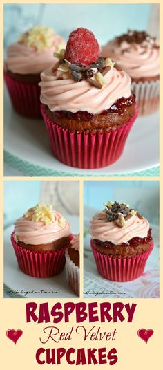 The classic RED VELVET CUPCAKE is given a raspberry twist with a layer of…