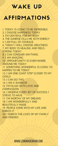 Affirmations for Success - Lemonade Brain I'm going to keep this one short and sweet. We all know that I LOVE affirmations. It may sound crazy, I know, but I swear to you that positive affirmations have really enriched and blessed … Affirmations Positives, Positive Affirmations Quotes, Affirmation Quotes, Positive Quotes, Affirmations Success, Miracle Morning Affirmations, Affirmations For Happiness, Affirmations For Anxiety, Chakra Affirmations