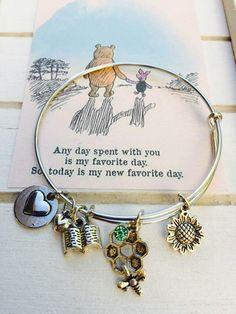 Winnie the Pooh Bangle Bracelet, Adult size, Friendship pooh Themed Bracelet by FairytaleBangles on Etsy https://www.etsy.com/listing/482323267/winnie-the-pooh-bangle-bracelet-adult