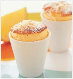 pineapple & coconut souffles