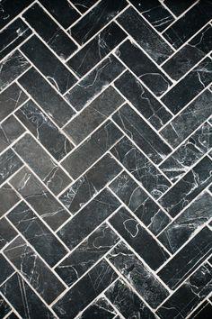 black natural slate tile flooring