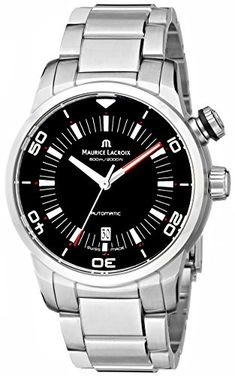 Men's Wrist Watches - Maurice Lacroix Mens PT6248SS002330 Pontos Stainless Steel Automatic Watch -- Check out the image by visiting the link.